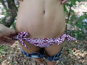 Exposing Pussy Outdoors